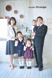 入学 入園 スタジオオレンジ 制服 家族写真