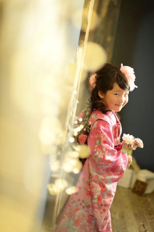 着物 ピンク 7歳 七五三