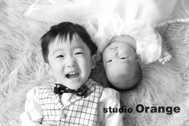お宮参り 兄弟撮影 2歳お兄ちゃん 生後2ヶ月