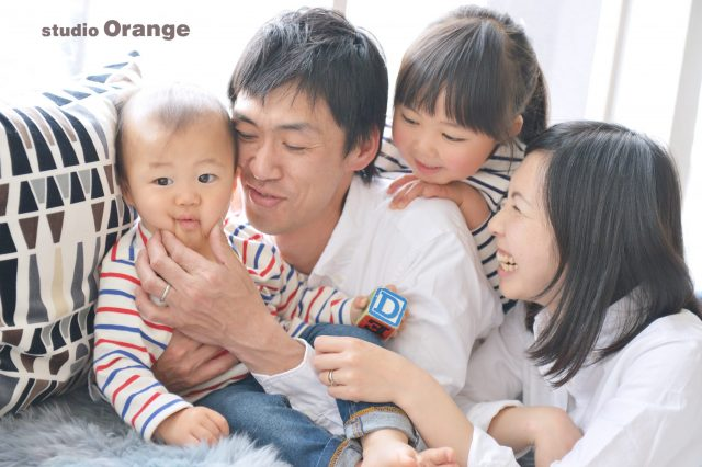 家族写真 変顔