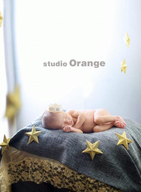 ニューボーン 新生児フォト はだかんぼ 星