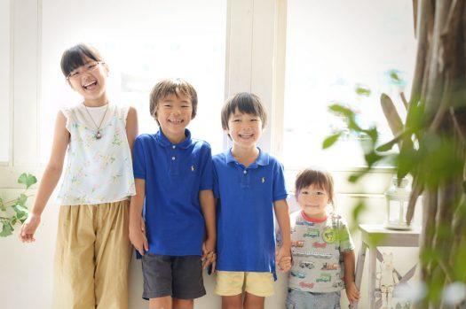 兄弟撮影 4兄弟 笑顔