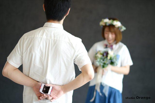 婚約指輪 エンゲージメントフォト 花かんむり ブーケ