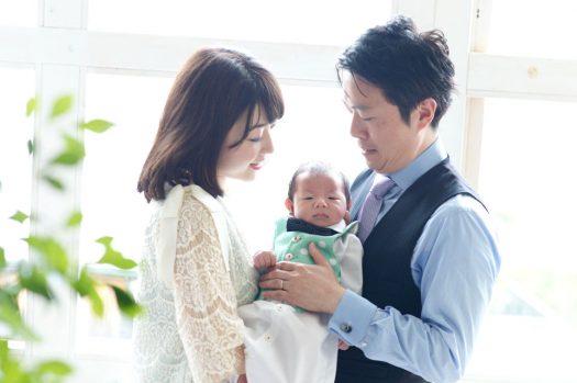 お宮参り 家族撮影 奈良市