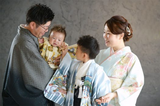 奈良市 七五三 家族撮影