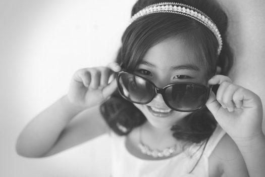 サングラス 白黒ドレス 奈良市 お誕生日 7歳