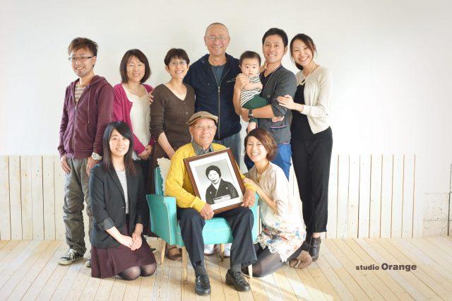 米寿 祖父 一族 家族撮影 奈良市