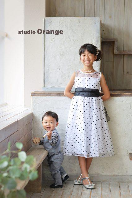 兄弟撮影 お誕生日撮影 ドレス