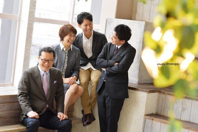男性成人 奈良市 スタジオオレンジ 家族撮影