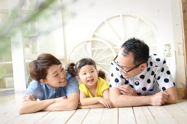 私服 家族撮影 七五三 3歳女の子