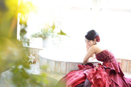 成人式 赤いドレス 二十歳 2018年
