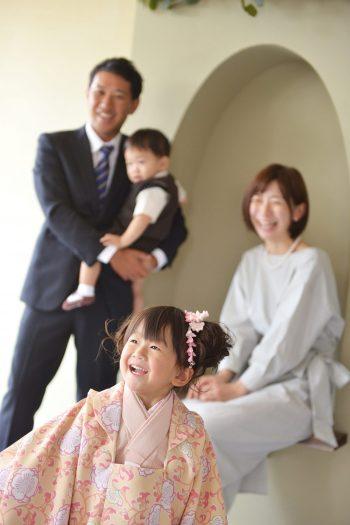 3歳女の子 家族撮影 オリジナル着物