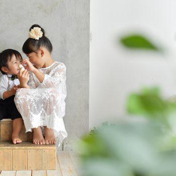 七五三 姉弟撮影 3歳男の子 7歳女の子