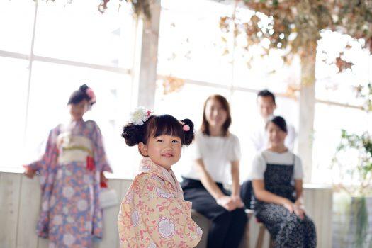 七五三 家族撮影 3歳女の子