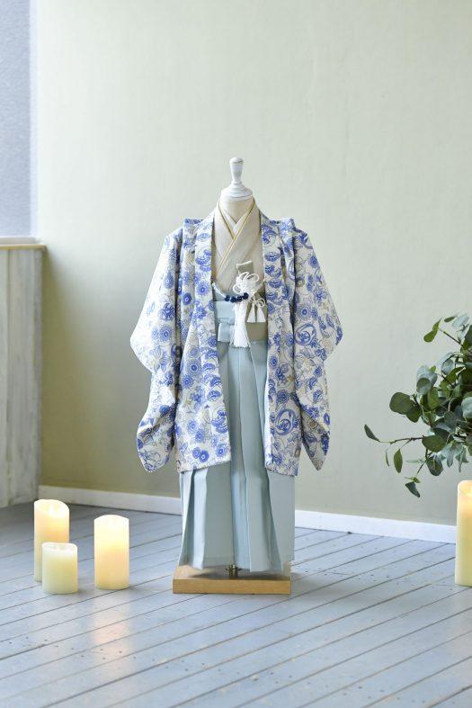3歳男の子 羽織袴 スタジオ衣装