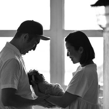 ニューボーン 家族写真 ファミリーフォト