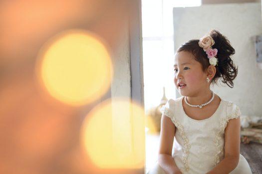 白いドレス お誕生日 キラキラ 女の子