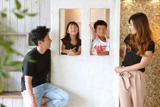 家族写真 私服