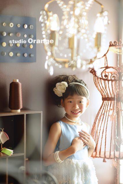 9歳 お誕生日 水色のドレス とってもお姉さん
