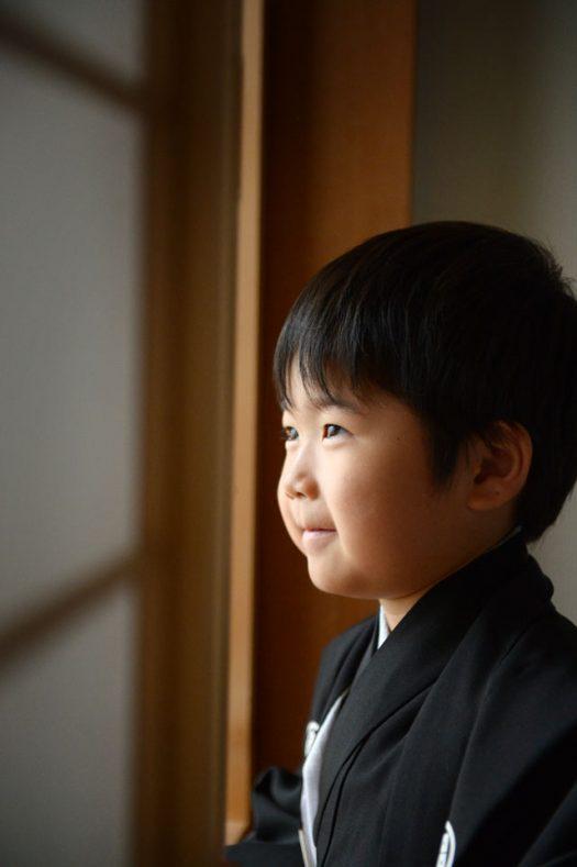 5歳男の子 黒い着物