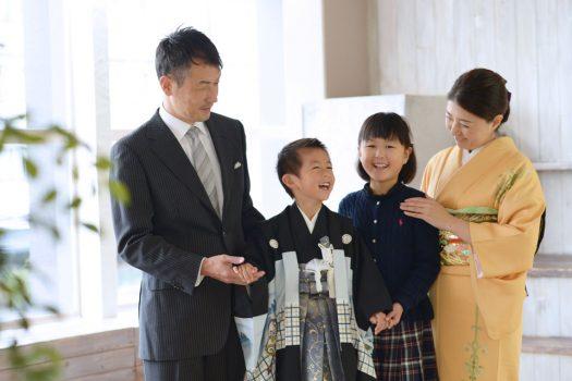 七五三 家族写真 5歳男の子