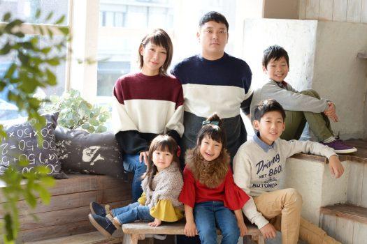 家族撮影 子だくさん