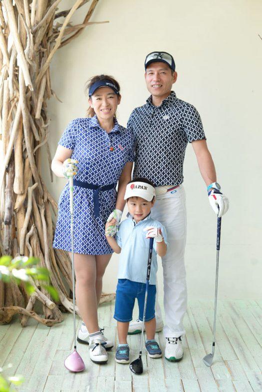 ゴルフプレイヤー 家族写真