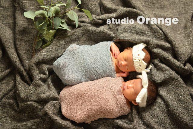 双子 twins ニューボーン 新生児