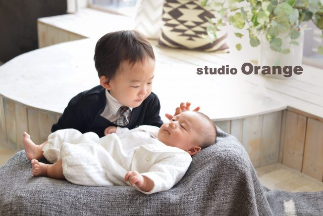お宮参り 兄弟撮影 3歳 お兄ちゃん