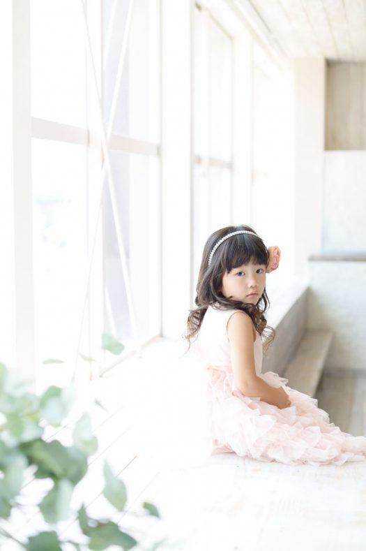 お誕生日撮影 ドレス ピンク
