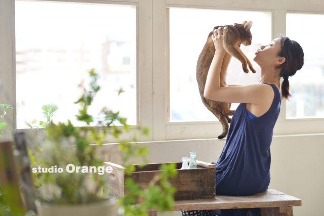 ペットフォト 猫 アビシニアン 奈良市 スタジオオレンジ