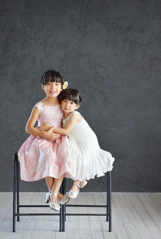 七五三 ドレス 姉妹撮影