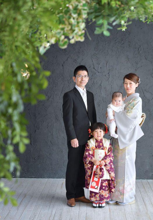 奈良市 七五三 家族撮影 着物
