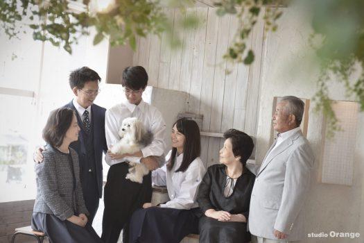 奈良市 高校生 兄弟 家族撮影 ペットフォト