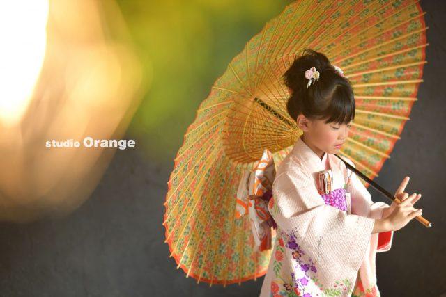 奈良市 七五三 七歳 和傘