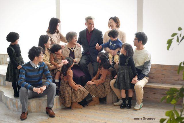 長寿の祝 退職記念 親族一同 家族写真 奈良市