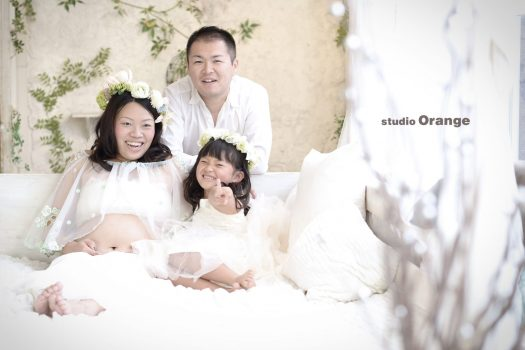 マタニティ マタニティフォト 親子 家族写真
