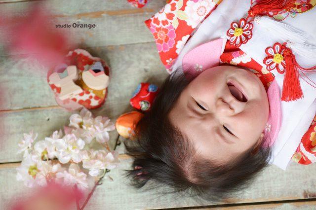 奈良市 生駒市 精華町 学園前 帝塚山 スタジオオレンジ 節句 女の子 桃の節句 おひな様 雛人形 泣き顔