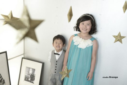 奈良市 写真館 スタジオオレンジ 誕生日記念 兄弟 ドレス