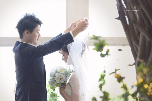 写真だけの結婚式 ママ婚 ウエディングフォト 婚礼写真 奈良市 スタジオオレンジ ヴェールダウン