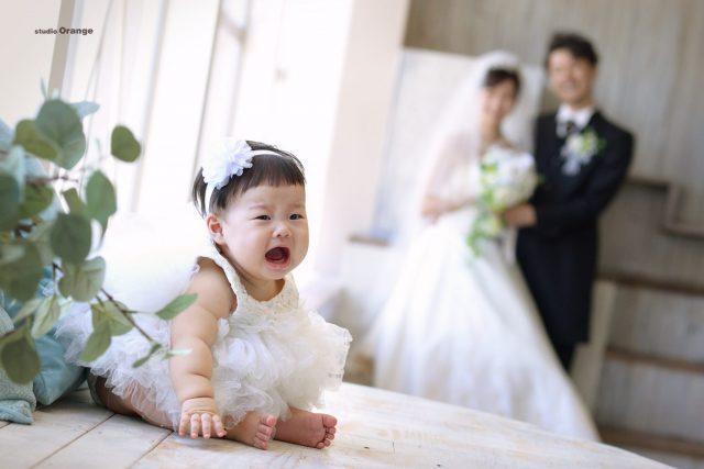 写真だけの結婚式 ママ婚 ウエディングフォト 婚礼写真 奈良市 スタジオオレンジ 泣き顔