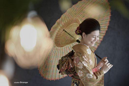 傘 成人式 前撮り スタジオオレンジ 奈良市