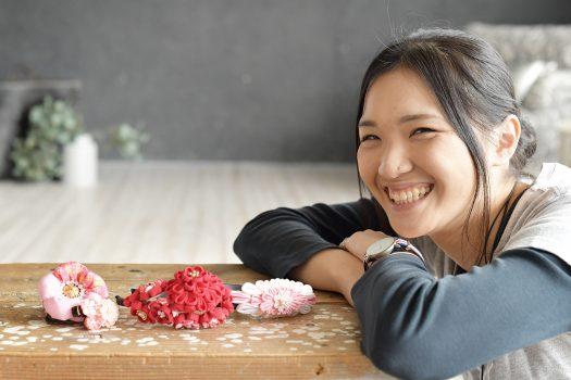 スタジオオレンジ 奈良市 髪飾り 和風 つまみ細工 手作り