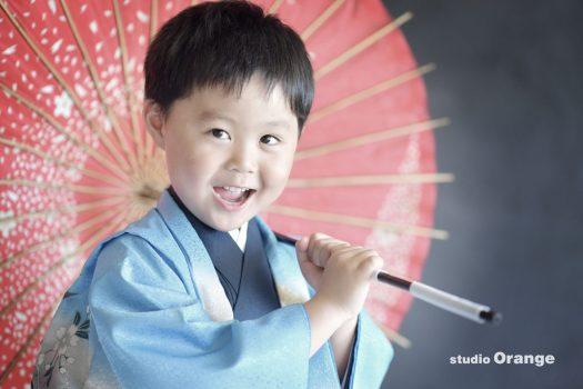 奈良 写真館 七五三 5歳 男の子 着物