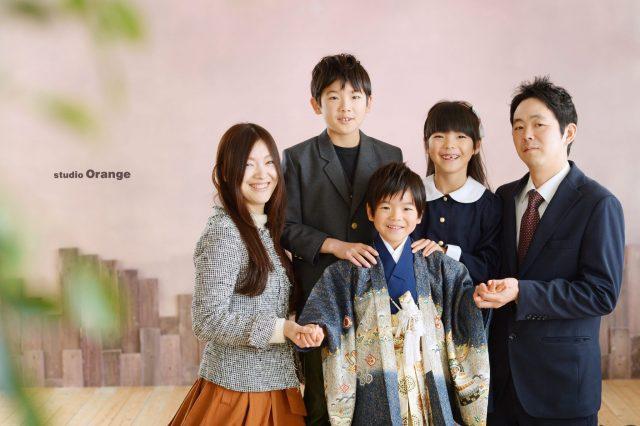 奈良市 写真館 七五三 家族写真 5歳