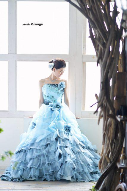 成人式 奈良市 精華町 木津川市 写真館 スタジオオレンジ ドレス 成人式 前撮り 後撮り