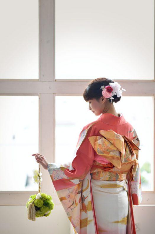 奈良市 生駒市 帝塚山 富雄 木津川市 精華町 スタジオレンジ 振袖 成人式 二十歳 ピンクの着物