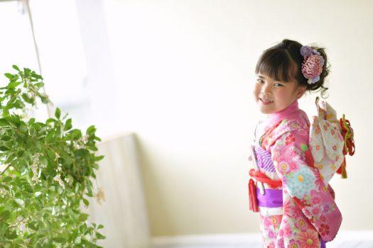 奈良市 生駒市 帝塚山 富雄 木津川市 精華町 スタジオレンジ 七五三 七歳女の子 着物