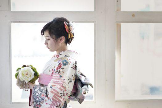 奈良市 生駒市 帝塚山 富雄 木津川市 精華町 スタジオレンジ 成人式前撮り 成人式後撮り 着物 白い着物