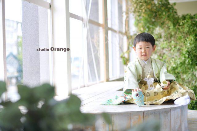 奈良市 写真館 スタジオオレンンジ 端午の節句 男の子 七五三 着物 和装